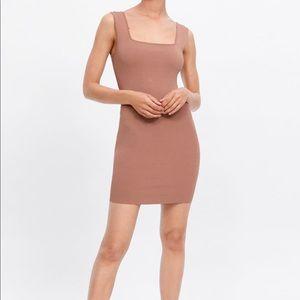 Zara 2019 bodycon dress nude color